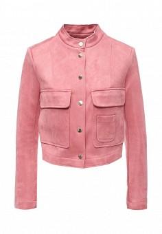 Куртка кожаная, Love Republic, цвет: розовый. Артикул: LO022EWSAW64. Женская одежда / Верхняя одежда / Кожаные куртки