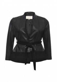 Куртка кожаная, LOST INK PLUS, цвет: черный. Артикул: LO035EWPTE59. Женская одежда / Верхняя одежда / Кожаные куртки