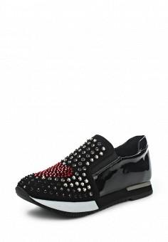 Кроссовки, Love Moschino, цвет: черный. Артикул: LO416AWJEC63. Женщинам / Обувь / Кроссовки и кеды