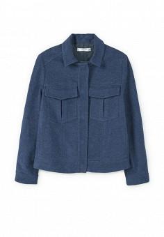 Куртка джинсовая, Mango, цвет: синий. Артикул: MA002EWPXJ45. Женская одежда / Верхняя одежда / Джинсовые куртки