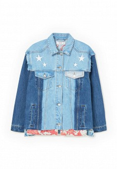 Куртка джинсовая, Mango, цвет: синий. Артикул: MA002EWRTP26. Женская одежда / Тренды сезона / Летний деним / Джинсовые куртки