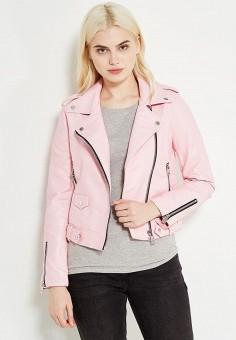 Куртка, Mango, цвет: розовый. Артикул: MA002EWTJY11. Женская одежда / Верхняя одежда / Косухи