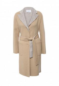 Пальто, Max&Co, цвет: бежевый. Артикул: MA111EWOMK64. Премиум / Одежда / Верхняя одежда / Пальто