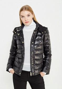 Пуховик, Max&Co, цвет: черный. Артикул: MA111EWUBZ28. Премиум / Одежда / Верхняя одежда / Пуховики и зимние куртки