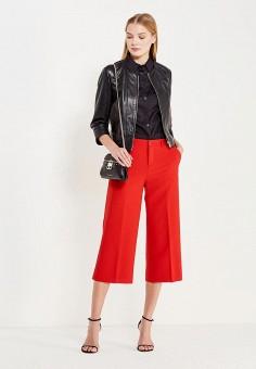 Куртка кожаная, Max&Co, цвет: черный. Артикул: MA111EWUBZ31. Женская одежда / Верхняя одежда / Кожаные куртки