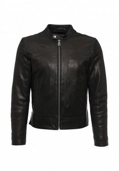 Куртка кожаная, MCS, цвет: черный. Артикул: MC009EMLCG23. Мужская одежда / Верхняя одежда / Кожаные куртки