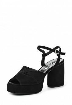 Босоножки, McQ Alexander McQueen, цвет: черный. Артикул: MC010AWQDV65. Премиум / Обувь / Босоножки