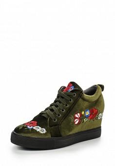 Кеды на танкетке, Mellisa, цвет: зеленый. Артикул: ME030AWPSU40. Женская обувь / Кроссовки и кеды