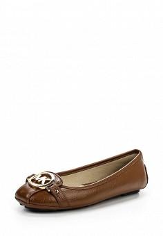 Балетки, Michael Michael Kors, цвет: коричневый. Артикул: MI048AWNZQ29. Премиум / Обувь / Балетки