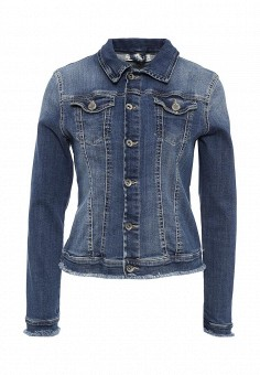 Куртка джинсовая, Miss Miss by Valentina, цвет: синий. Артикул: MI059EWRAQ81. Женская одежда / Верхняя одежда / Джинсовые куртки