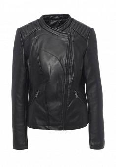 Куртка кожаная, Modis, цвет: черный. Артикул: MO044EWQVI82. Женская одежда / Верхняя одежда / Кожаные куртки