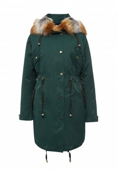 Парка, Grafinia, цвет: зеленый. Артикул: MP002XW0DPHY. Женская одежда / Верхняя одежда / Парки