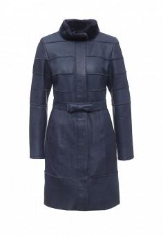 Дубленка, Mondial, цвет: синий. Артикул: MP002XW1A5UX. Женская одежда / Верхняя одежда / Шубы и дубленки