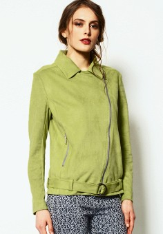 Куртка, JN, цвет: зеленый. Артикул: MP002XW1A855. Женская одежда / Верхняя одежда / Косухи