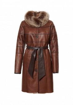 Дубленка, Graciana, цвет: коричневый. Артикул: MP002XW1GIAU. Женская одежда / Верхняя одежда / Шубы и дубленки