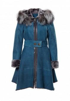 Дубленка, Grafinia, цвет: синий. Артикул: MP002XW1GIAX. Женская одежда / Верхняя одежда / Шубы и дубленки