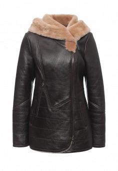 Дубленка, Mondial, цвет: коричневый. Артикул: MP002XW1GIZ9. Женская одежда / Верхняя одежда / Шубы и дубленки