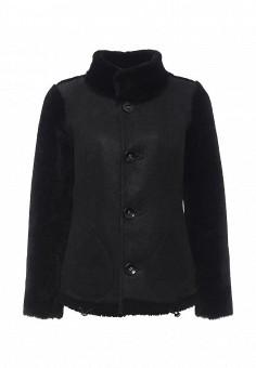 Дубленка, Mondial, цвет: черный. Артикул: MP002XW1GIZG. Женская одежда / Верхняя одежда / Шубы и дубленки