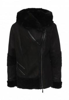 Дубленка, Mondial, цвет: черный. Артикул: MP002XW1GIZH. Женская одежда / Верхняя одежда / Шубы и дубленки