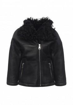 Дубленка, Mondial, цвет: черный. Артикул: MP002XW1GIZS. Женская одежда / Верхняя одежда / Шубы и дубленки