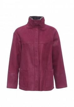 Дубленка, Mondial, цвет: бордовый. Артикул: MP002XW1GIZY. Женская одежда / Верхняя одежда / Шубы и дубленки