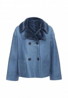 Дубленка, Mondial, цвет: синий. Артикул: MP002XW1GIZZ. Женская одежда / Верхняя одежда / Шубы и дубленки