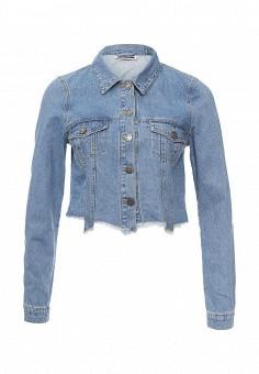 Куртка джинсовая, Noisy May, цвет: голубой. Артикул: NO963EWOGP95. Женская одежда / Верхняя одежда / Джинсовые куртки