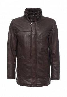 Куртка кожаная, Oakwood, цвет: коричневый. Артикул: OA002EMJJJ74. Мужская одежда / Верхняя одежда / Кожаные куртки