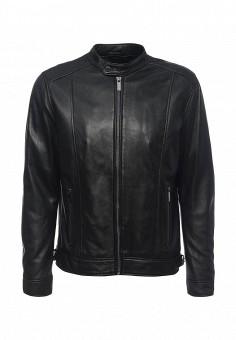 Куртка кожаная, Oakwood, цвет: черный. Артикул: OA002EMJJJ77. Мужская одежда / Верхняя одежда / Кожаные куртки