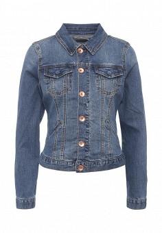 Куртка джинсовая, Oasis, цвет: синий. Артикул: OA004EWRVM42. Женская одежда / Тренды сезона / Летний деним / Джинсовые куртки