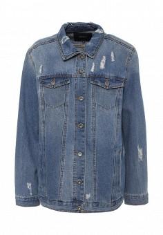 Куртка джинсовая, Only, цвет: синий. Артикул: ON380EWODS26. Женская одежда / Верхняя одежда / Джинсовые куртки