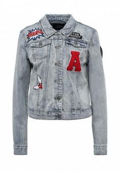 Куртка джинсовая, Only, цвет: голубой. Артикул: ON380EWOEL25. Женская одежда / Верхняя одежда / Джинсовые куртки