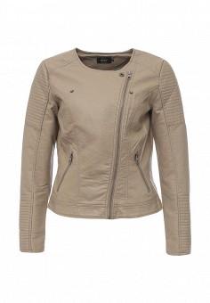 Куртка кожаная, Only, цвет: бежевый. Артикул: ON380EWOGP40. Женская одежда / Верхняя одежда / Косухи