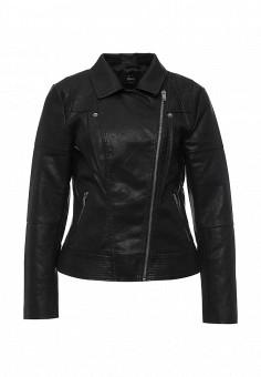 Куртка кожаная, Only, цвет: черный. Артикул: ON380EWOGP65. Женская одежда / Верхняя одежда / Косухи