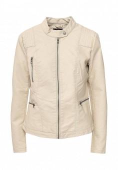 Куртка кожаная, Only, цвет: бежевый. Артикул: ON380EWOGP83. Женская одежда / Верхняя одежда / Кожаные куртки
