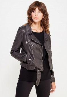 Куртка кожаная, Only, цвет: черный. Артикул: ON380EWUVN78. Женская одежда / Верхняя одежда / Косухи