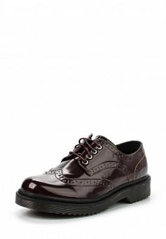 Ботинки, oodji, цвет: бордовый. Артикул: OO001AWJON08. Женская обувь / Ботинки