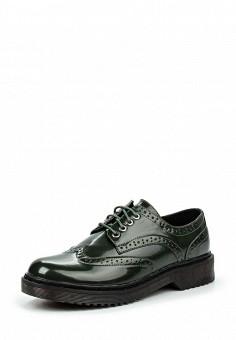 Ботинки, oodji, цвет: зеленый. Артикул: OO001AWJON09. Женская обувь / Ботинки