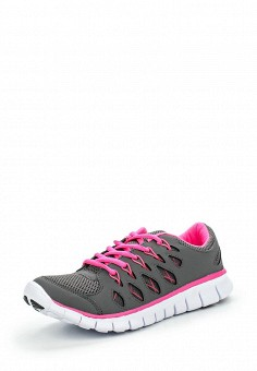 Кроссовки, oodji, цвет: серый. Артикул: OO001AWLOJ38. Женская обувь / Кроссовки и кеды / Кроссовки