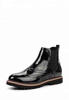 Ботинки, oodji, цвет: черный. Артикул: OO001AWMGP61. Женская обувь / Ботинки