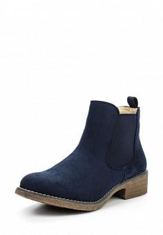 Ботинки, oodji, цвет: синий. Артикул: OO001AWPSD39. Женская обувь / Ботинки
