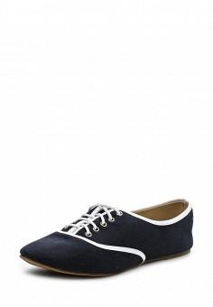 Ботинки, oodji, цвет: синий. Артикул: OO001AWPXI93. Женская обувь / Ботинки