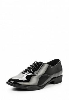 Ботинки, oodji, цвет: черный. Артикул: OO001AWQRW33. Женская обувь / Ботинки
