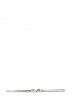 Пояс, oodji, цвет: серебряный. Артикул: OO001DWNVW29. Женские аксессуары / Ремни и пояса