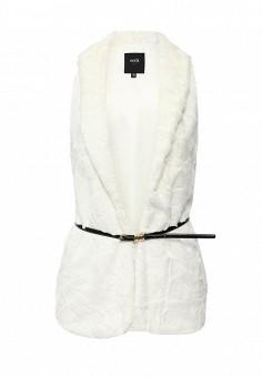 Жилет, oodji, цвет: белый. Артикул: OO001EWHCY59. Женская одежда / Верхняя одежда / Шубы и дубленки