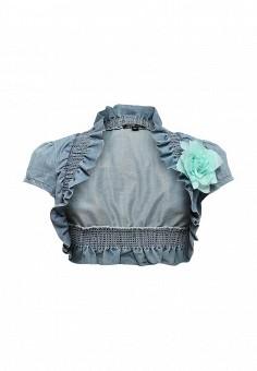 Болеро, oodji, цвет: голубой. Артикул: OO001EWIX557. Женская одежда / Тренды сезона / Летний деним / Джинсовые куртки