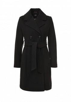 Пальто, oodji, цвет: черный. Артикул: OO001EWMGO85. Женская одежда