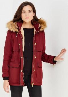 Парка, oodji, цвет: бордовый. Артикул: OO001EWNSS32. Женская одежда / Верхняя одежда / Парки