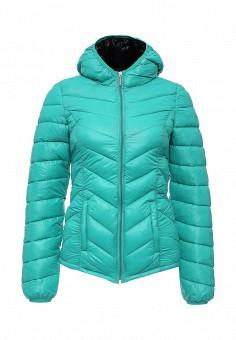 Куртка утепленная, oodji, цвет: бирюзовый. Артикул: OO001EWOHO89. Женская одежда / Верхняя одежда / Пуховики и зимние куртки