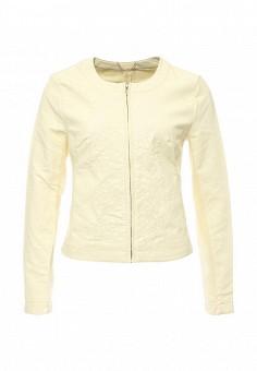 Куртка, oodji, цвет: желтый. Артикул: OO001EWPMT50. Женская одежда / Верхняя одежда / Кожаные куртки